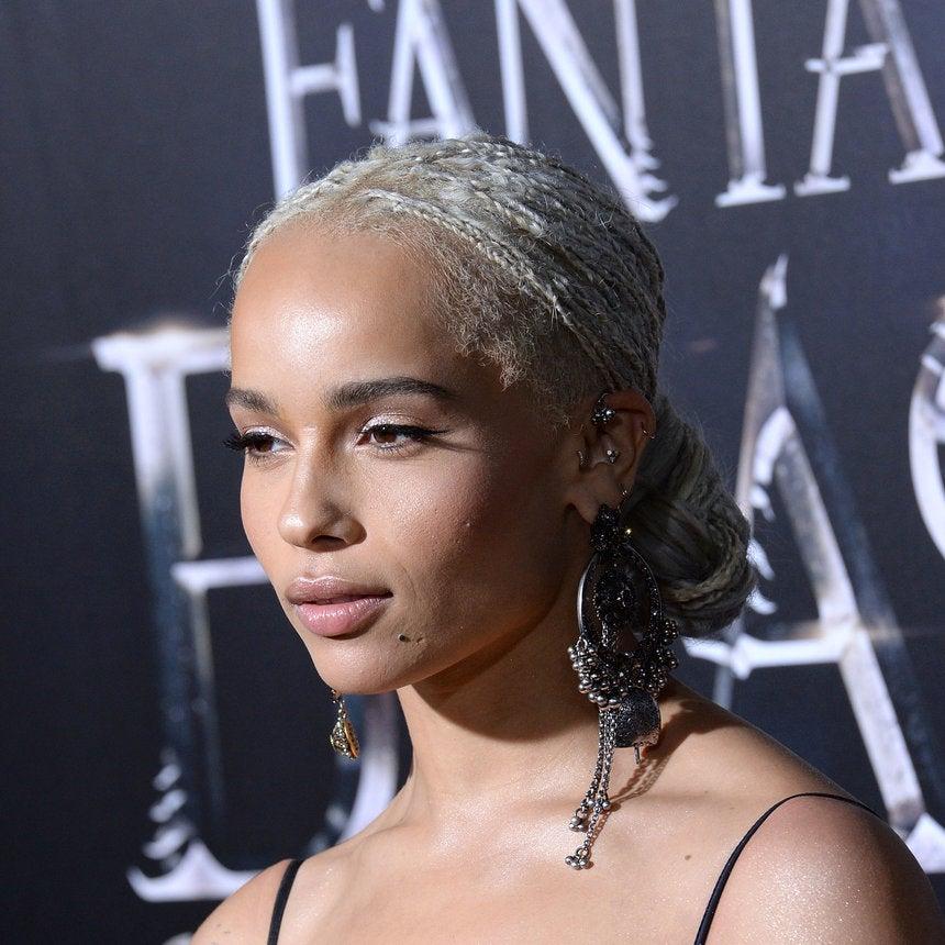 Zoe Kravitz Redefines Blonde Ambition With Her Platinum Braids