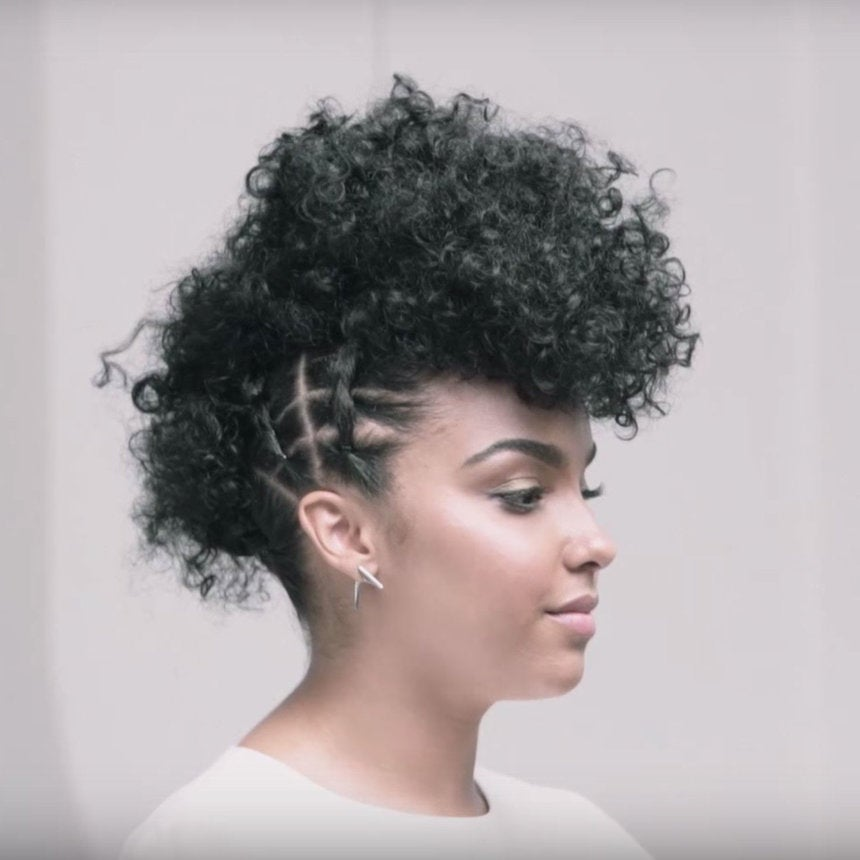 How To Style Your Curls Into A Fauxhawk