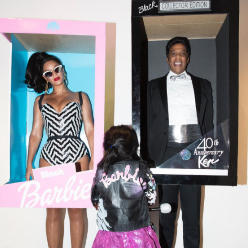 Beyoncé And Jay Z DressAs Black Barbie And Ken With Blue Ivy For Halloween