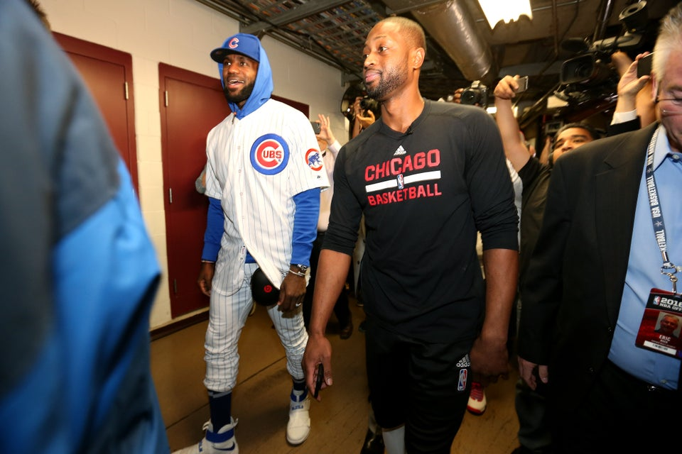 LeBron James Paid Off World Series Bet with Dwyane Wade in the Most Playful Way
