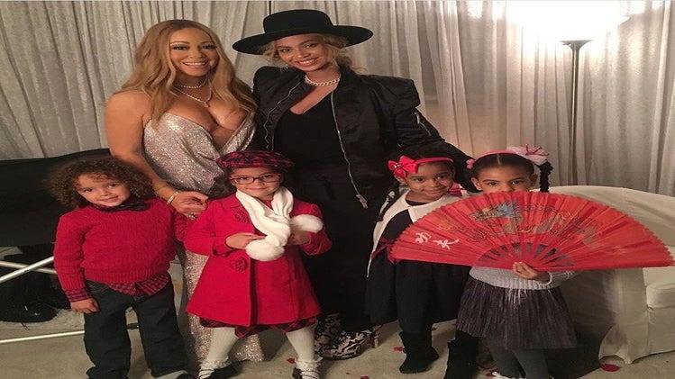 Divas' Kids Unite! Beyoncé & Mariah Carey's Children Pose for Cute Photo After Christmas Concert