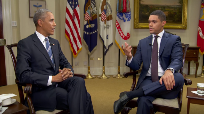 Obama Makes Final 'Daily Show' Appearance, Says Trump May As Well Be 'Flying Blind'