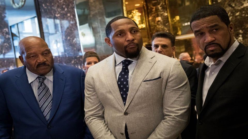 What Is Going On?! Ray Lewis And Jim Brown Meet With Donald Trump
