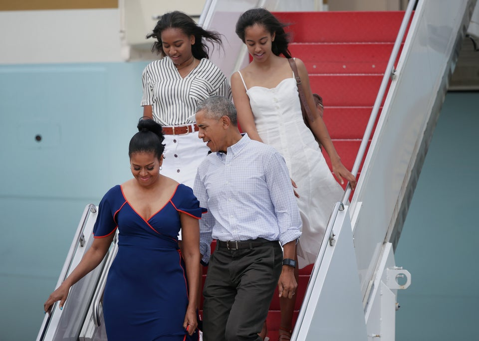 Obama Spotted On Vacation With Hat To The Back