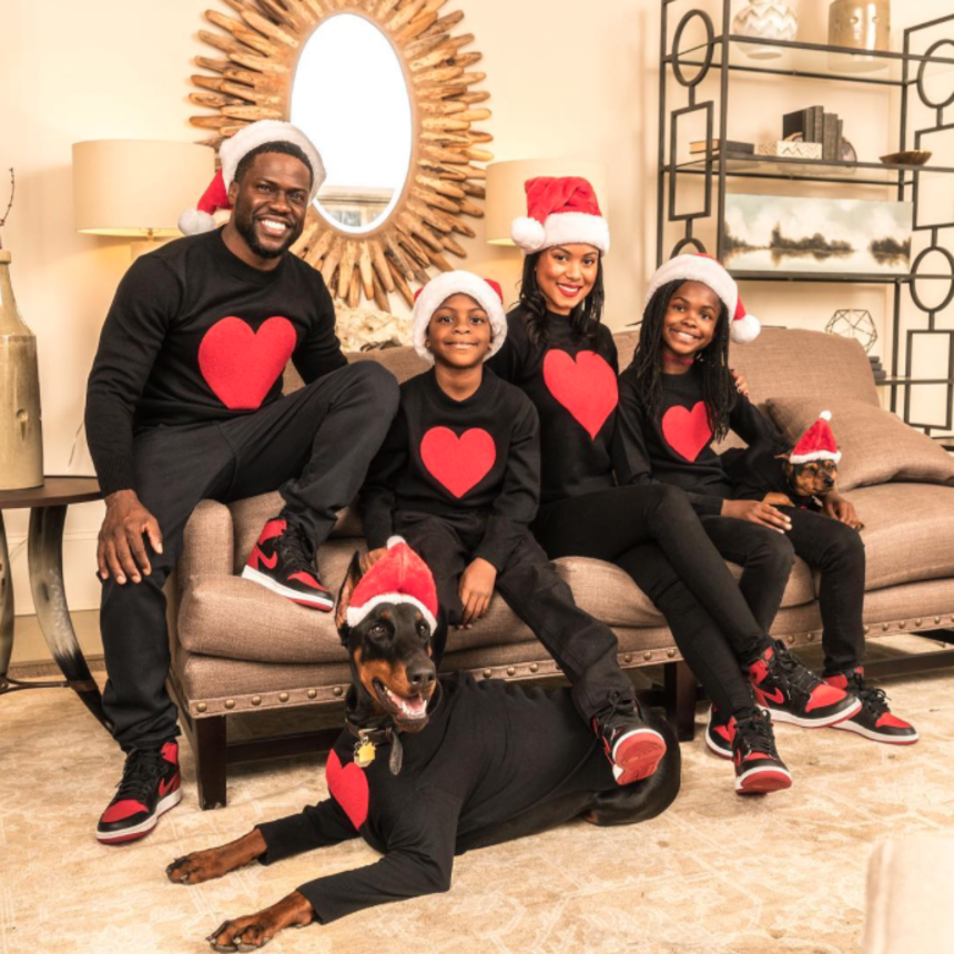 Kevin and Eniko Hart's Family Holiday Photos Are The Cutest Thing Ever