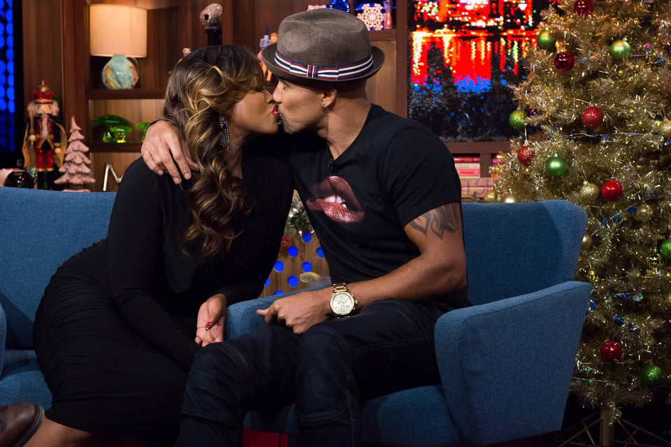 Sorry Ladies, Phaedra Parks Got A Holiday Smooch From Shemar Moore and It Was Hot!