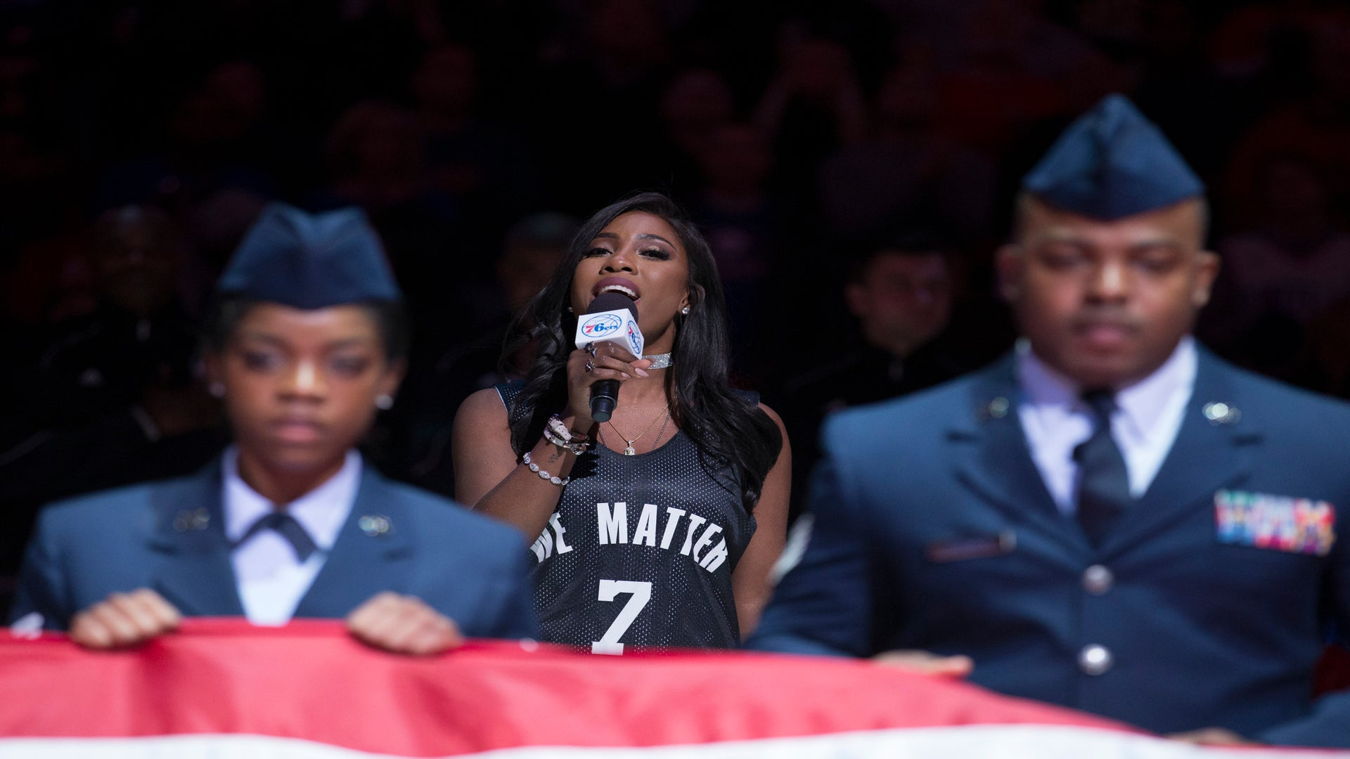 Sevyn Streeter Nails The National Anthem At The Sixers Game…In Her 'We Matter' Jersey