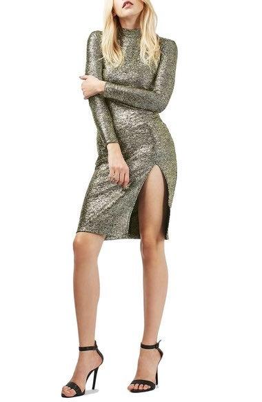 916c1ca8 Foil Spot Midi Dress (Regular & Petite), $75.00, nordstrom.com