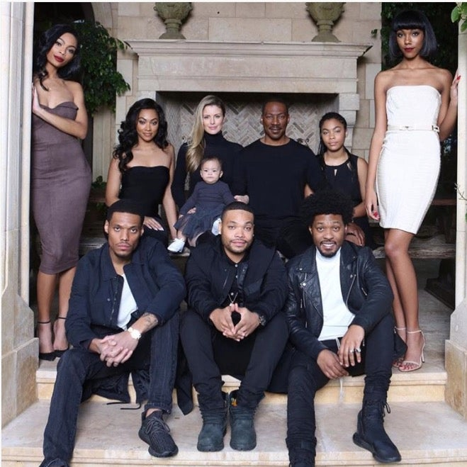 eddie murphy poses for family photo with all his kids essence