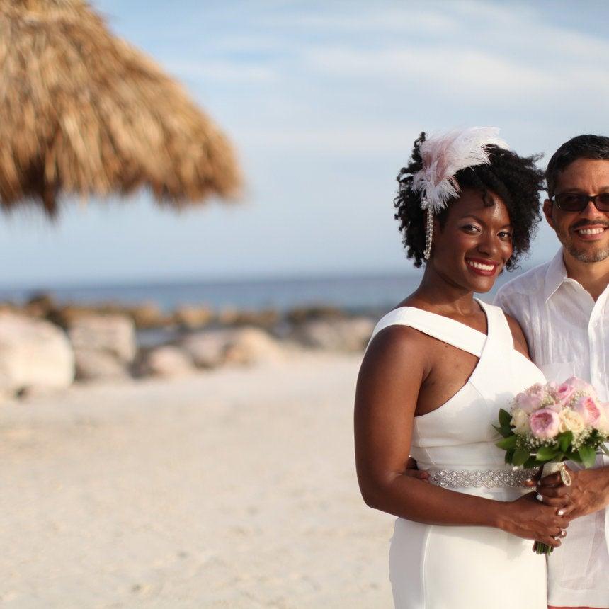Bridal Bliss: Joy and Michael's Curacao Beach Wedding Was Super Cute