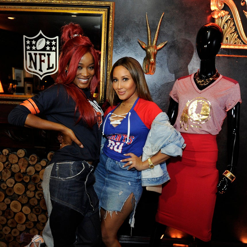 Adrienne Bailon and Keke Palmer Share Their Favorite Football Fashion Tips
