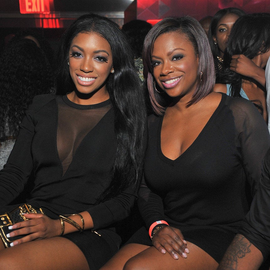 Porsha Williams and Phaedra Parks Claim Kandi Burruss Had a Threesome with Another Woman