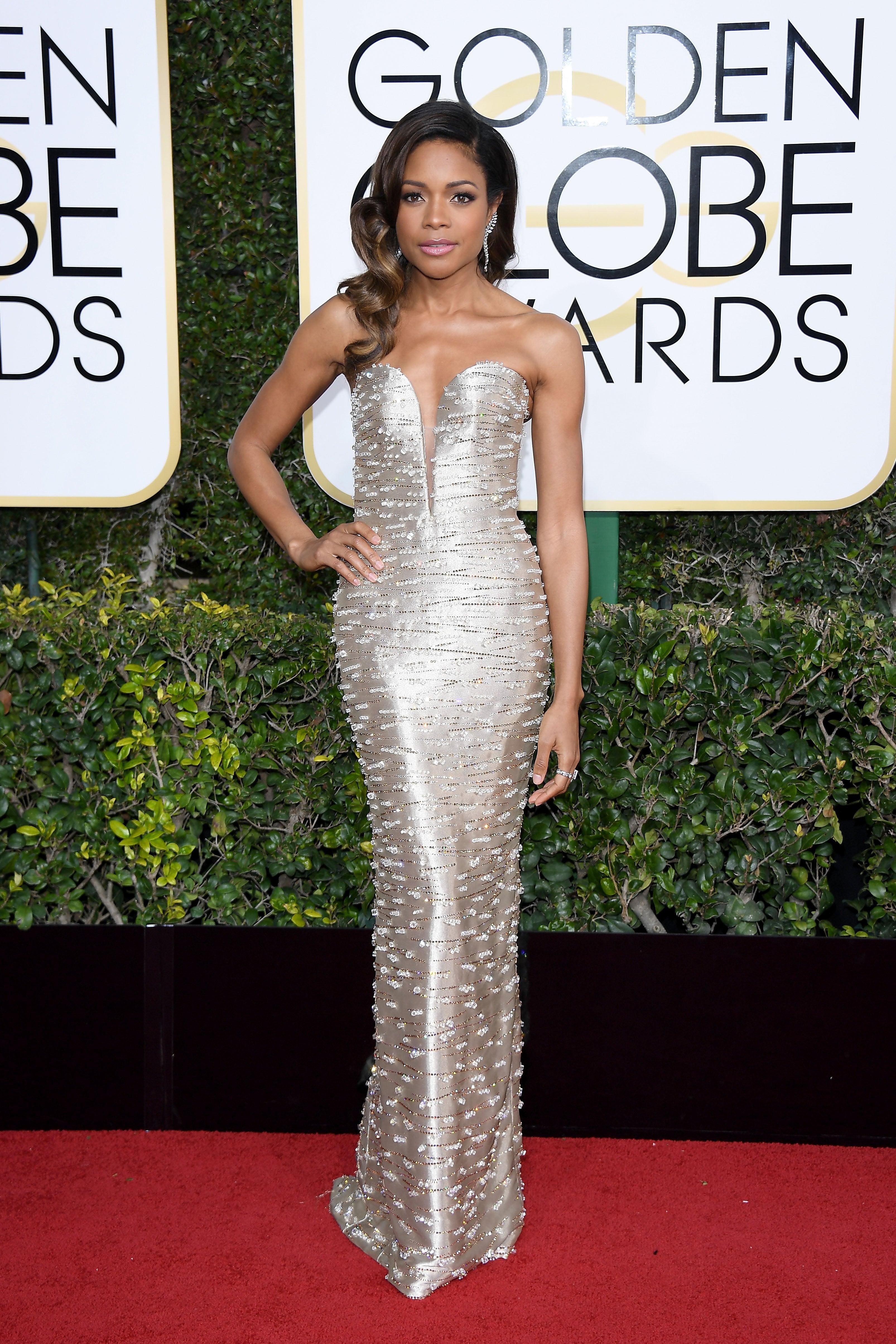Naomi Harris Slayed The Red Carpet In A Custom Armani Gown - Essence