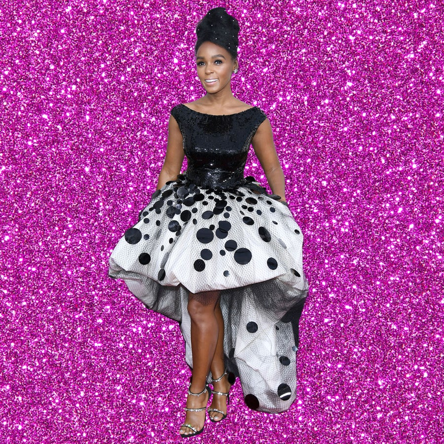 Janelle Monae Lights Up The Golden Globes In A Breathtaking Sequin Armani Gown