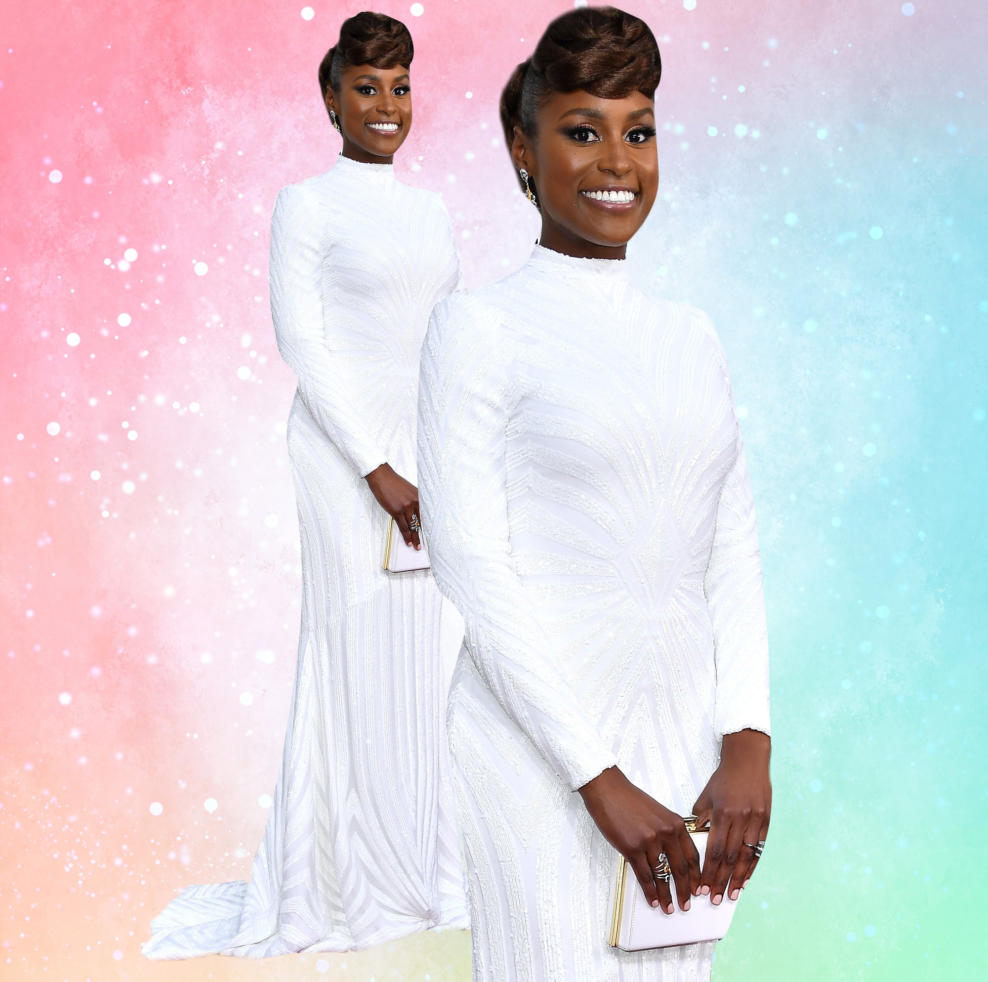 Issa Rae's 2017 Golden Globes Awards Look Couldn't Be Any More Fabulous
