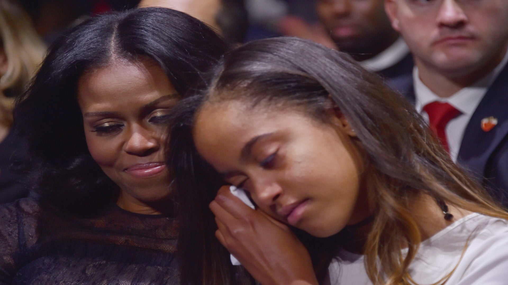 President Obama And Daughter Malia Moved To Tears As He Praised Wife Michelle During Moving Farewell Speech
