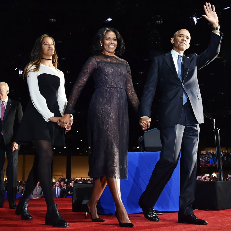 Michelle Obama's Dress At The President's Farewell Speech Had a Very Special Meaning