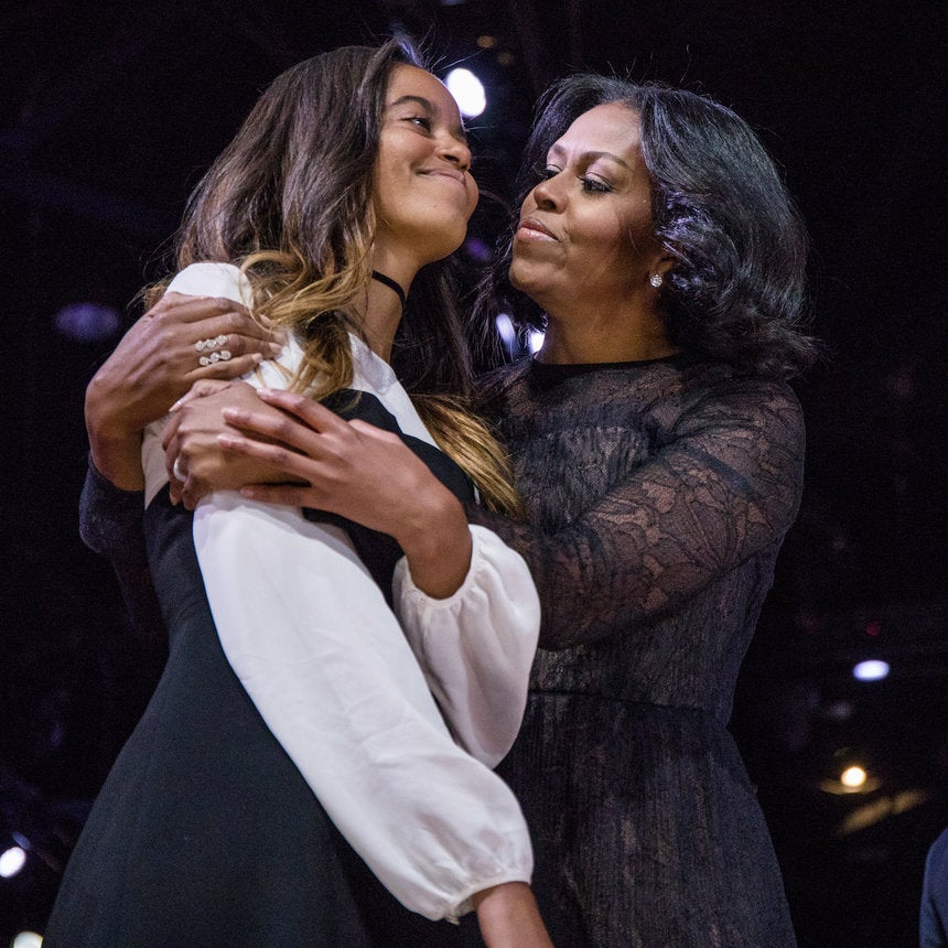 First Lady Michelle Obama and Her Daughters Through the Years