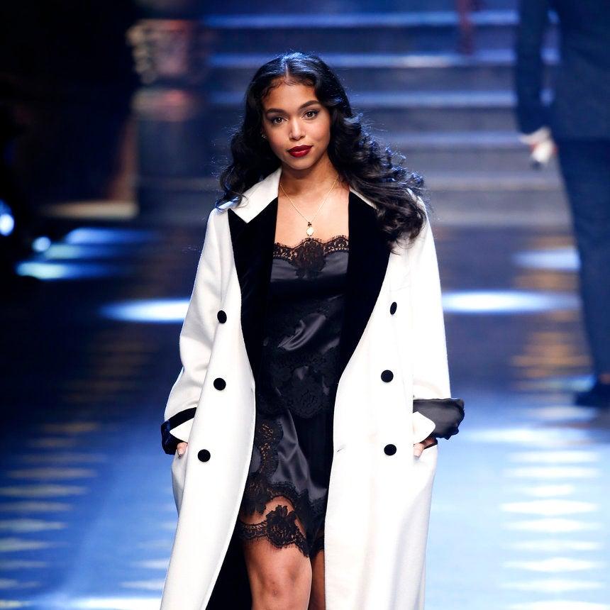 Lori Harvey, Marjorie Harvey's Daughter, Walks In Dolce & Gabbana Spring 2017 Show