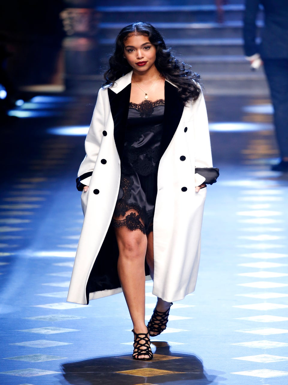 Lori Harvey, Marjorie Harvey's Daughter, Walks In Dolce & Gabbana Spring 2017 Show