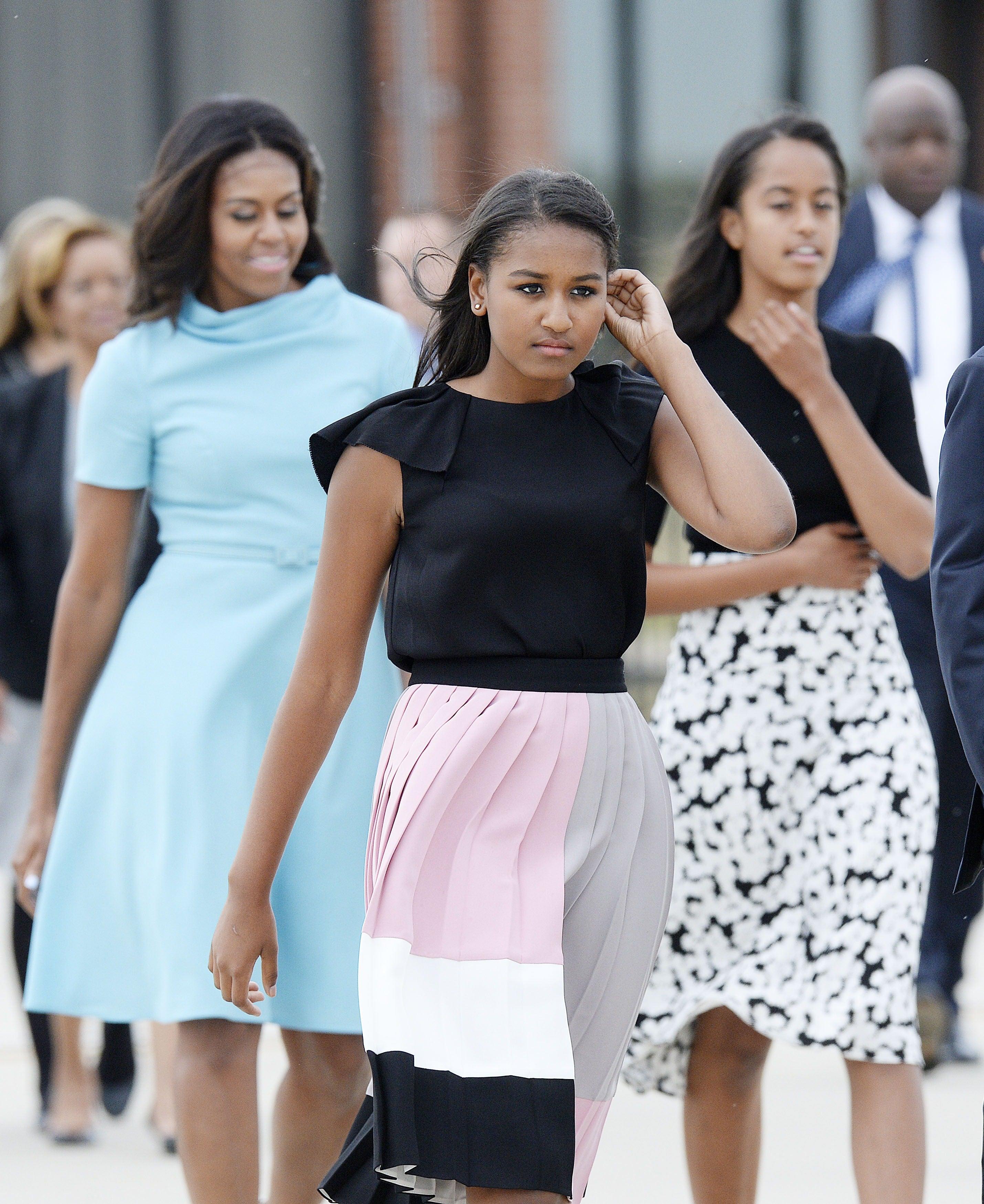 June 21 2015 Malia Sasha And Michelle Obama Leaving: Sasha And Malia Obama Style Over The Years