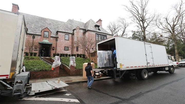 The Time Has Come: Moving Vans Spotted Outside the Obama Family's New D.C. Home