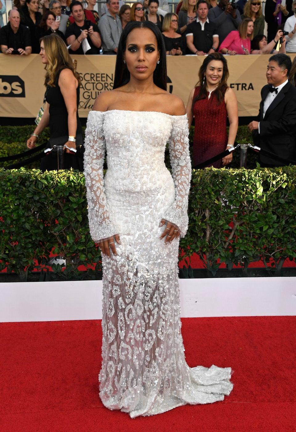 Kerry Washington Makes Political Fashion Statement at SAG Awards