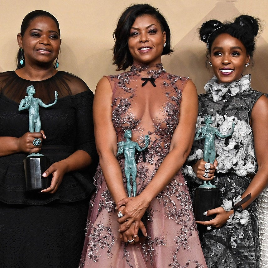 Black Girls Slay! 'Hidden Figures' Cast Wins SAG Award For Ensemble In A Motion Picture