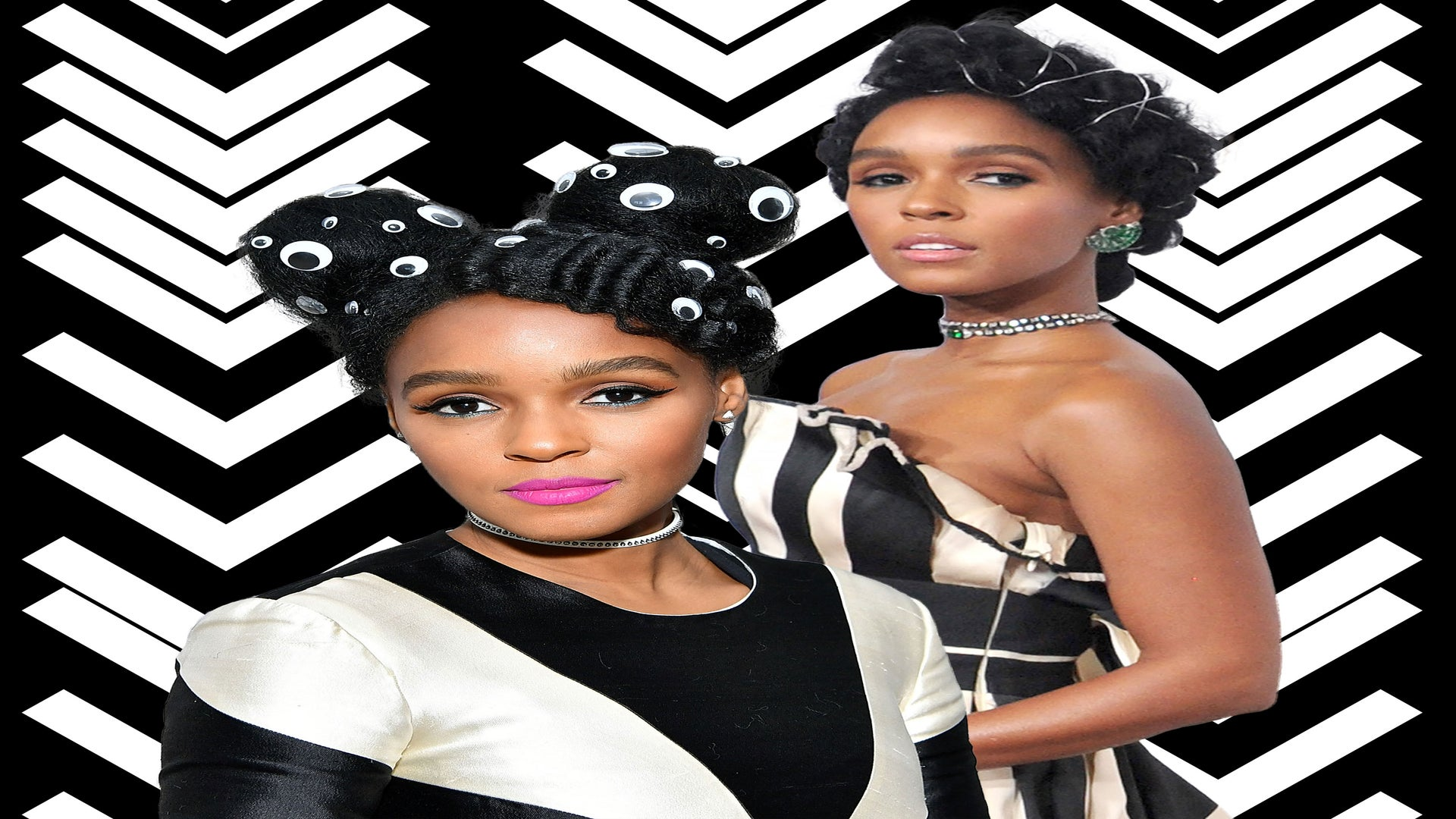 Janelle Monáe's Accessorized Hairstyles Continue To Win Awards Season