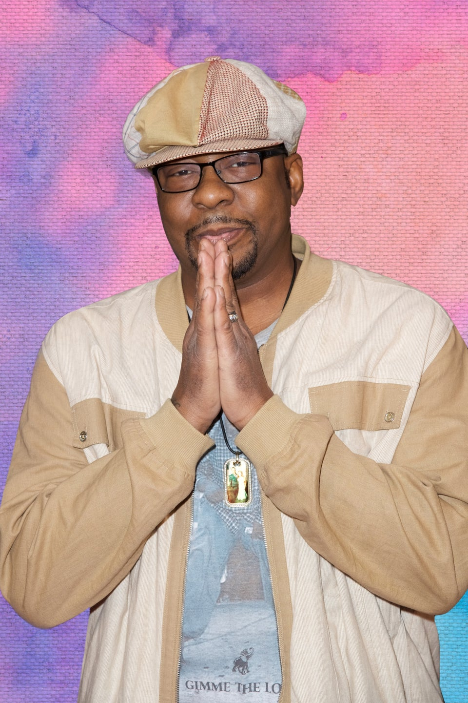 Bobby Brown Wears a Jacket Featuring a Tribute Photo of Late Daughter Bobbi Kristina Brown