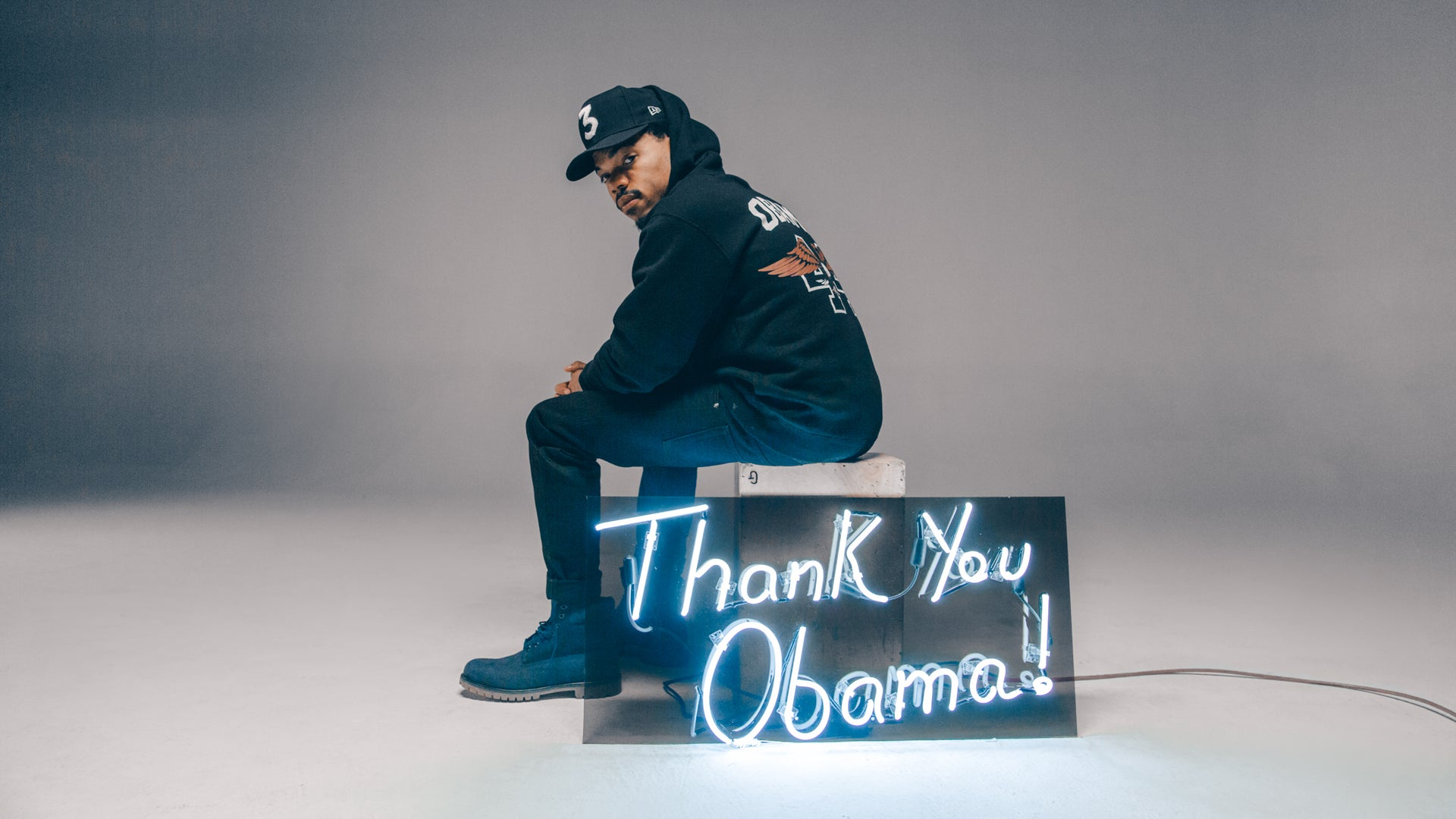 Chance the Rapper Models for Epic 'Thank U Obama' T-shirt Collection