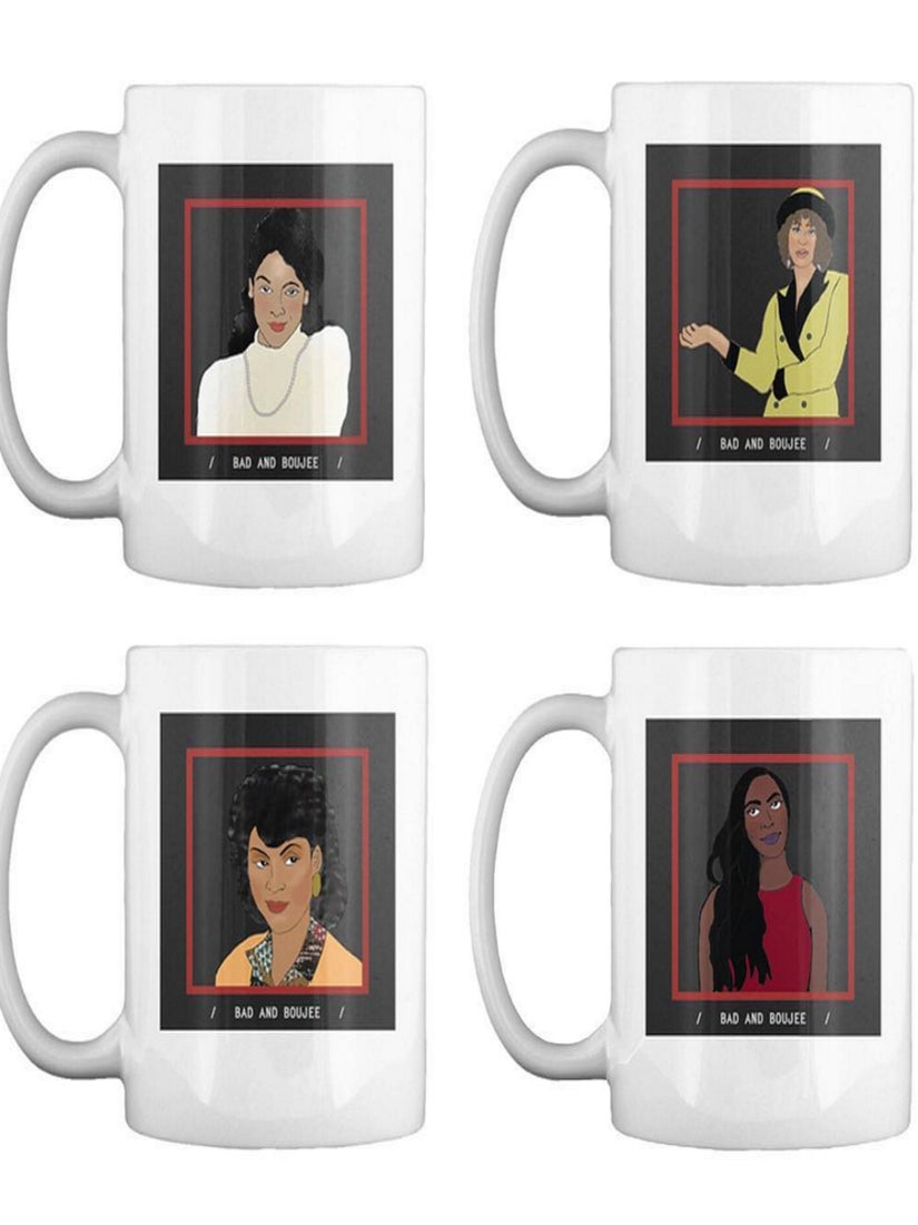 These 'Bad & Boujee' Coffee Mugs Featuring Iconic Black TV Characters Are The Must-Have Items Of The Season