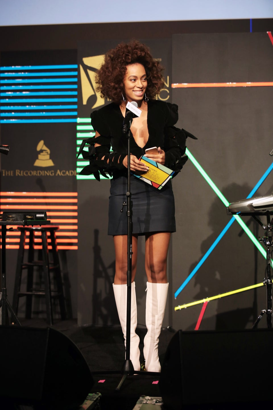 Solange Steps Out in Stunning Look for ESSENCE Black Women in Music
