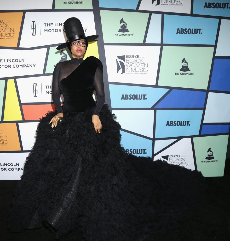 Erykah Badu Sets ESSENCE Black Women in Music Red Carpet On Fire in Stunning Gown