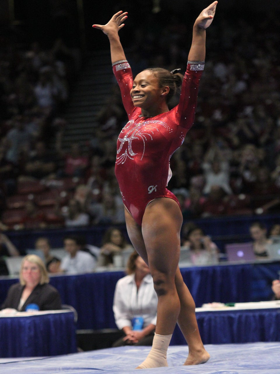 Watch This Gymnast Milly Rock Her Routine To A Near Perfect Score