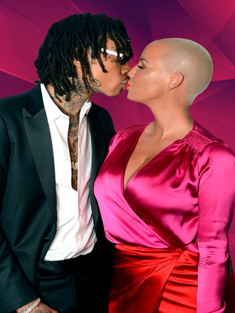 Back On? Exes Wiz Khalifa and Amber Rose Kiss and Cuddle at Clive Davis' Pre-Grammy Party