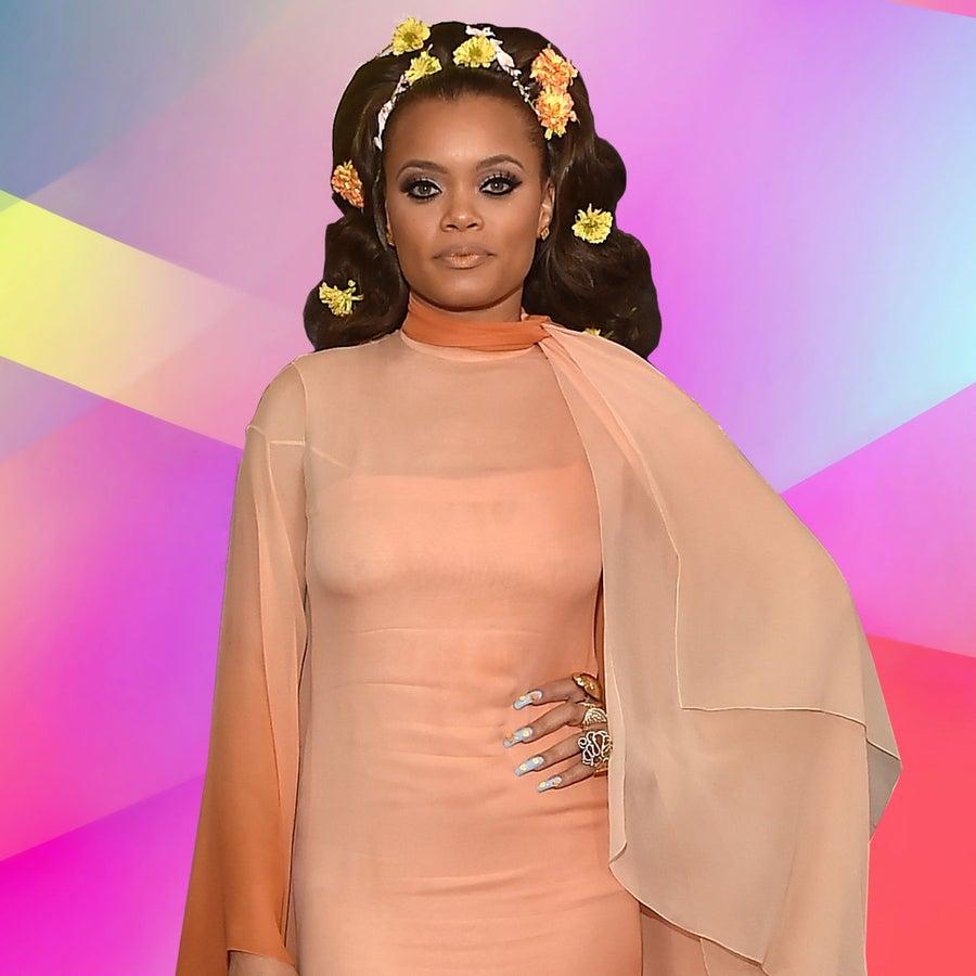 Andra Day's FloweryMane Wins The 2017 Grammys Red Carpet