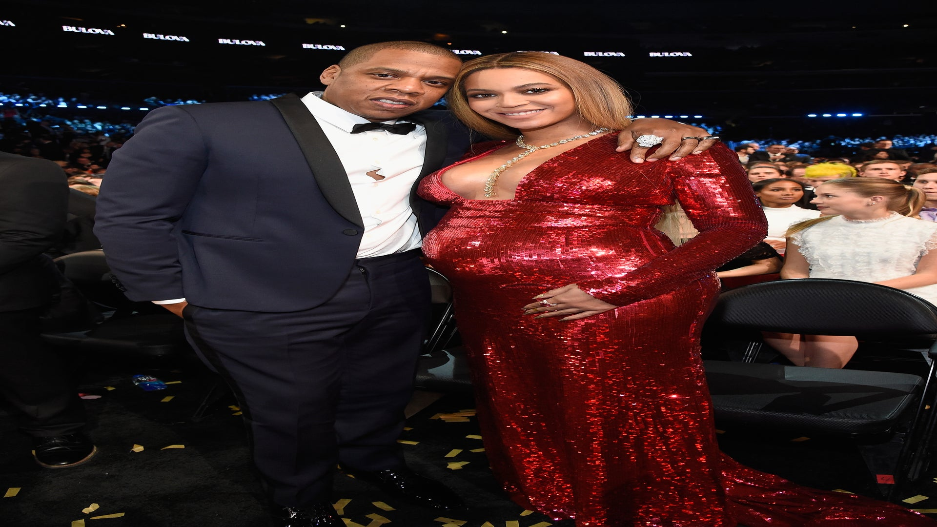 Beyoncé Changes Into Ravishing Red Gown At The Grammys And it Was Epic, Obvi