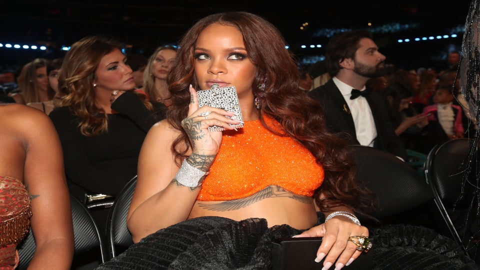 Rihanna And Her Diamond Flask Were The Low-Key Stars Of Grammy Night