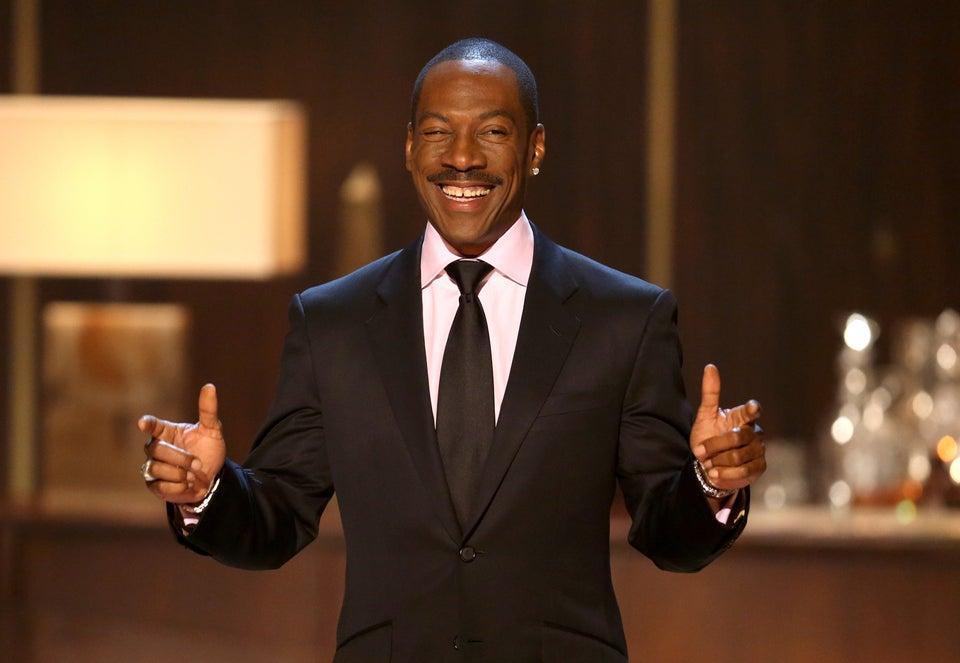 Eddie Murphy Riffs on Bill Cosby While Accepting Comedy Award