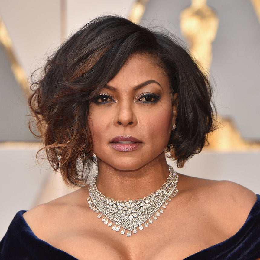Taraji P. Henson's Tousled Bob Is Perfection At The 2017 Academy Awards