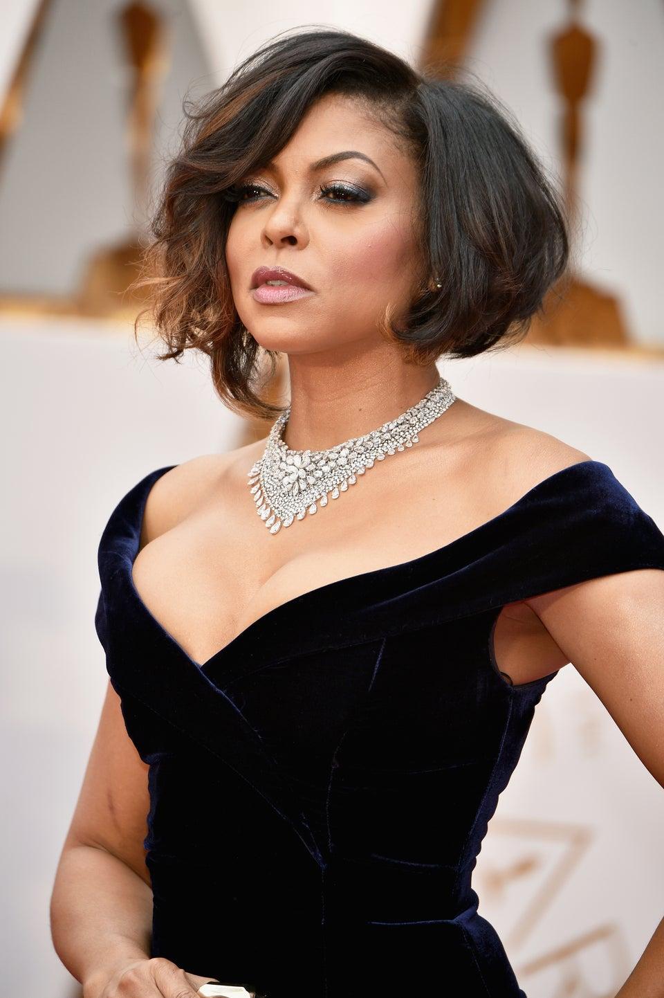 Taraji P. Henson's Tousled Bob Is Perfection At The 2017 Academy Awards