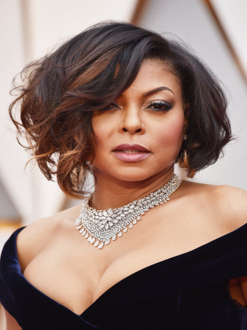 Taraji P. Henson Delivers Old Hollywood Glam on 2017 Oscars Red Carpet