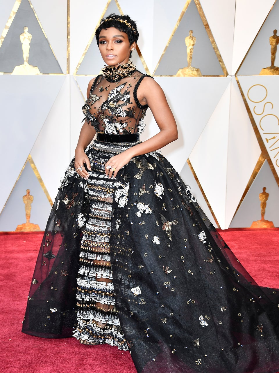 Janelle Monae Looks Like Royalty on 2017 Oscars Red Carpet