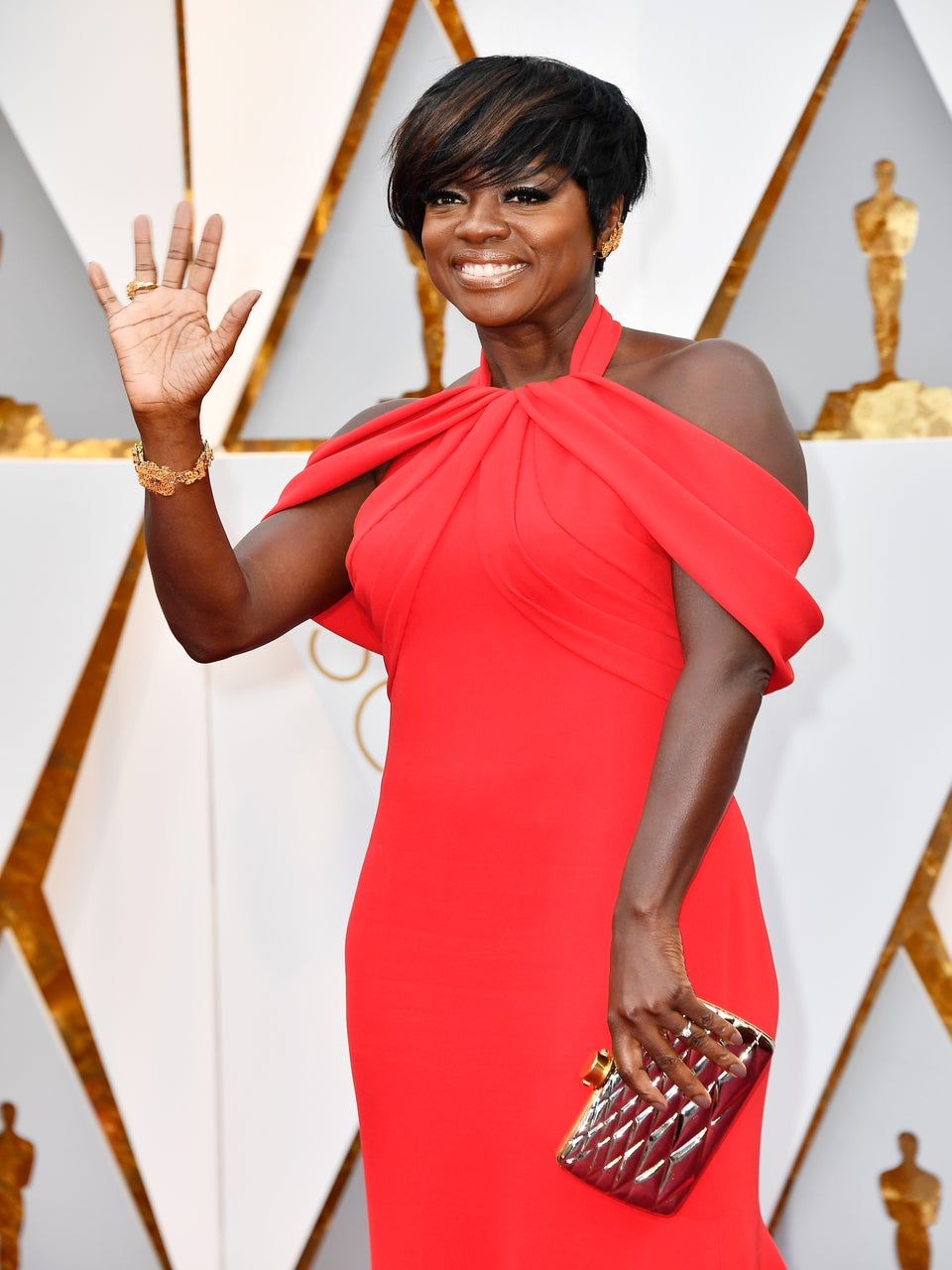 Viola Davis Slays the Oscars 2017 in Killer Armani Gown
