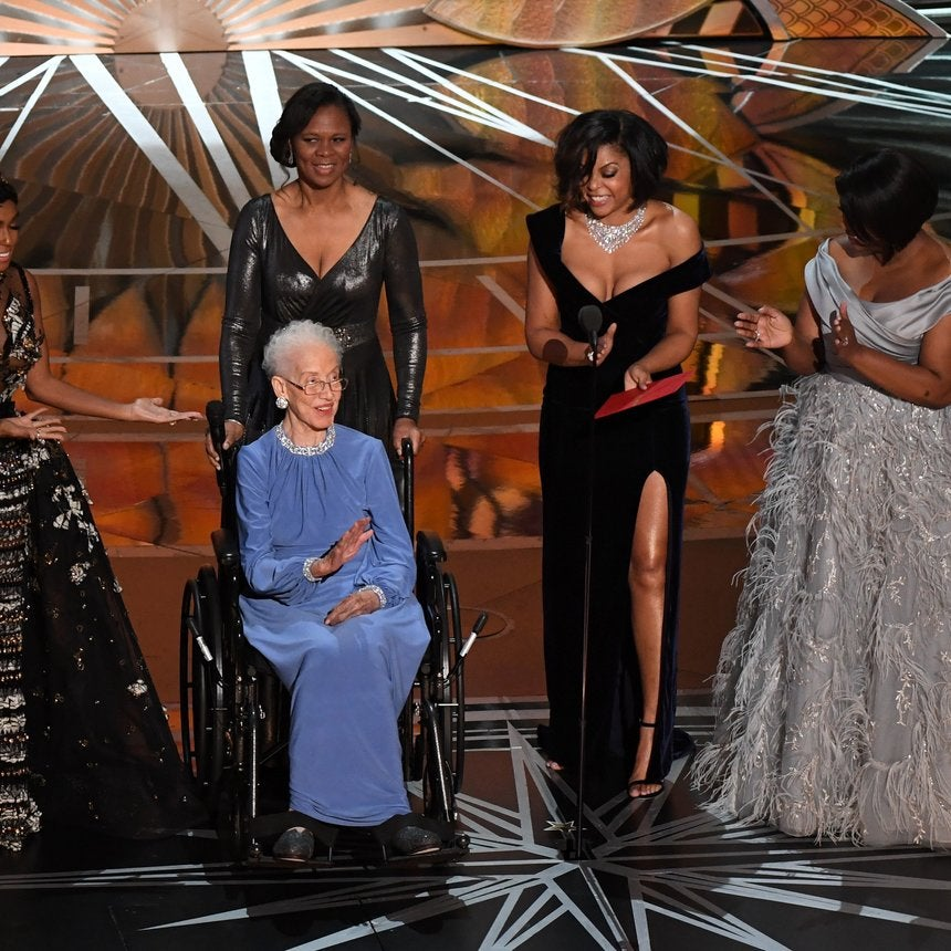 The Real Katherine Johnson Joined 'Hidden Figures' Cast On The Oscars Stage For An Unforgettable Moment