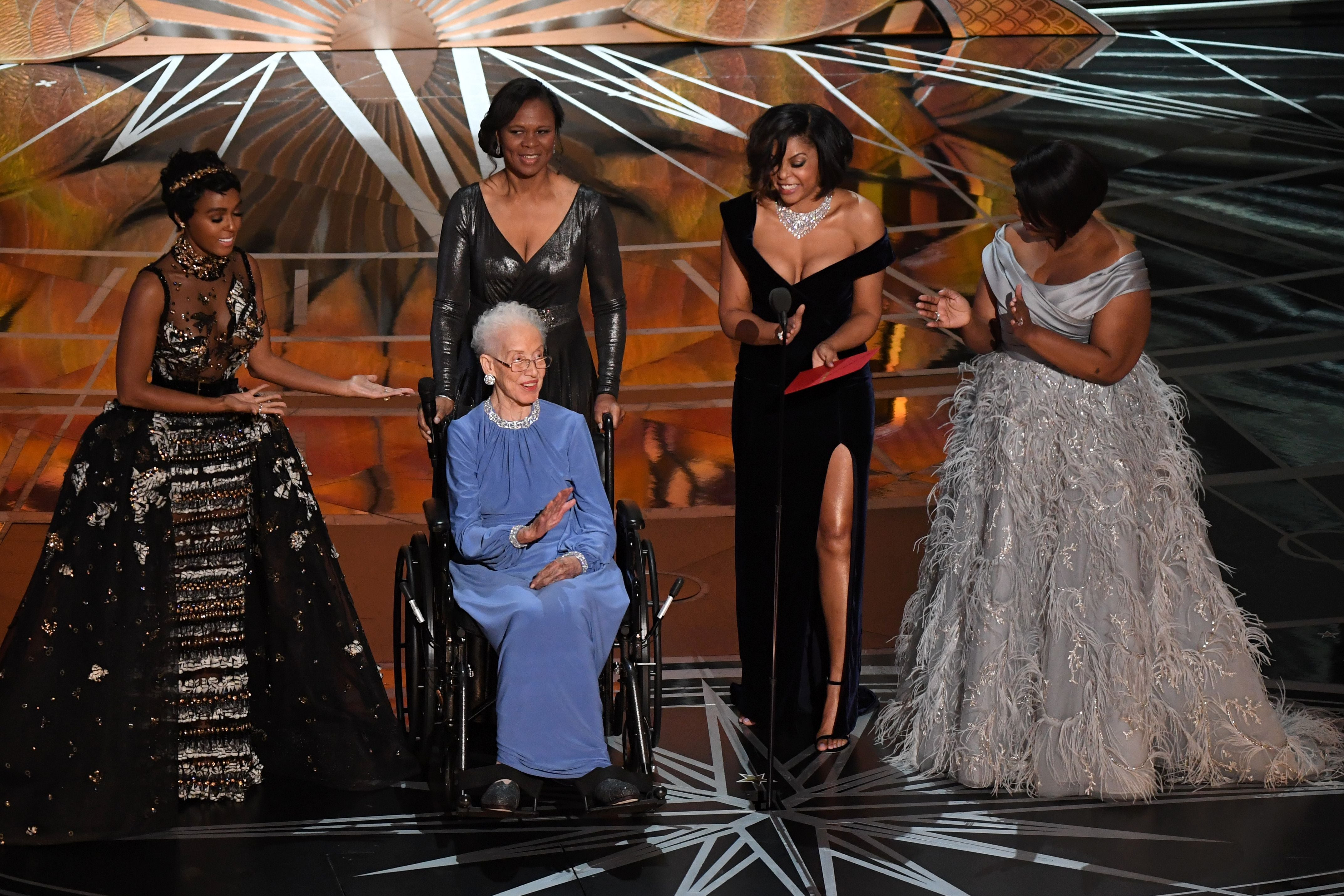 The Real Katherine Johnson Joined The Cast Of 'Hidden Figures' For A Poignant Moment At The Oscars