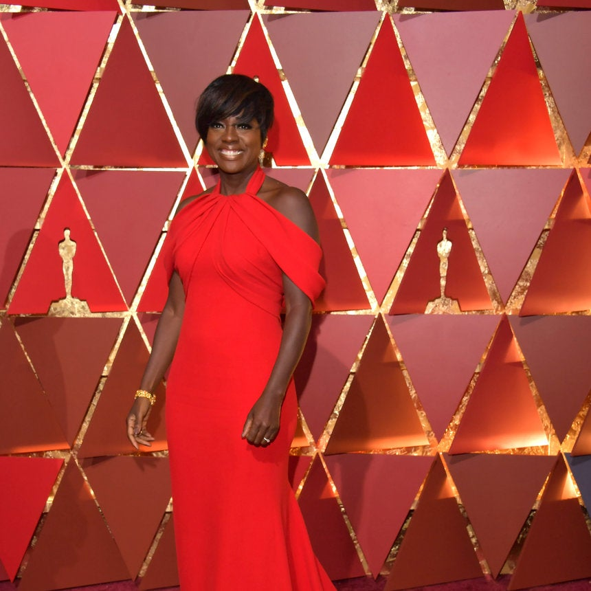 Get The Look: Viola Davis' Show-Stopping Red Oscars 2017 Gown