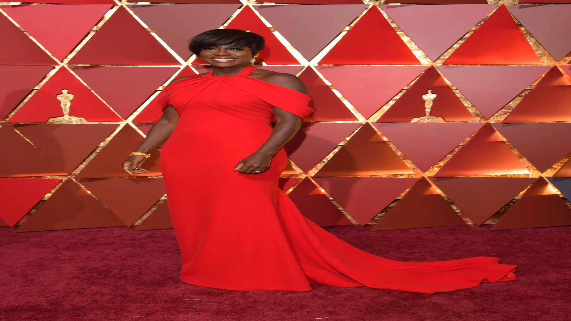 Get The Look! Viola Davis' Show-Stopping Red Oscars 2017 Gown