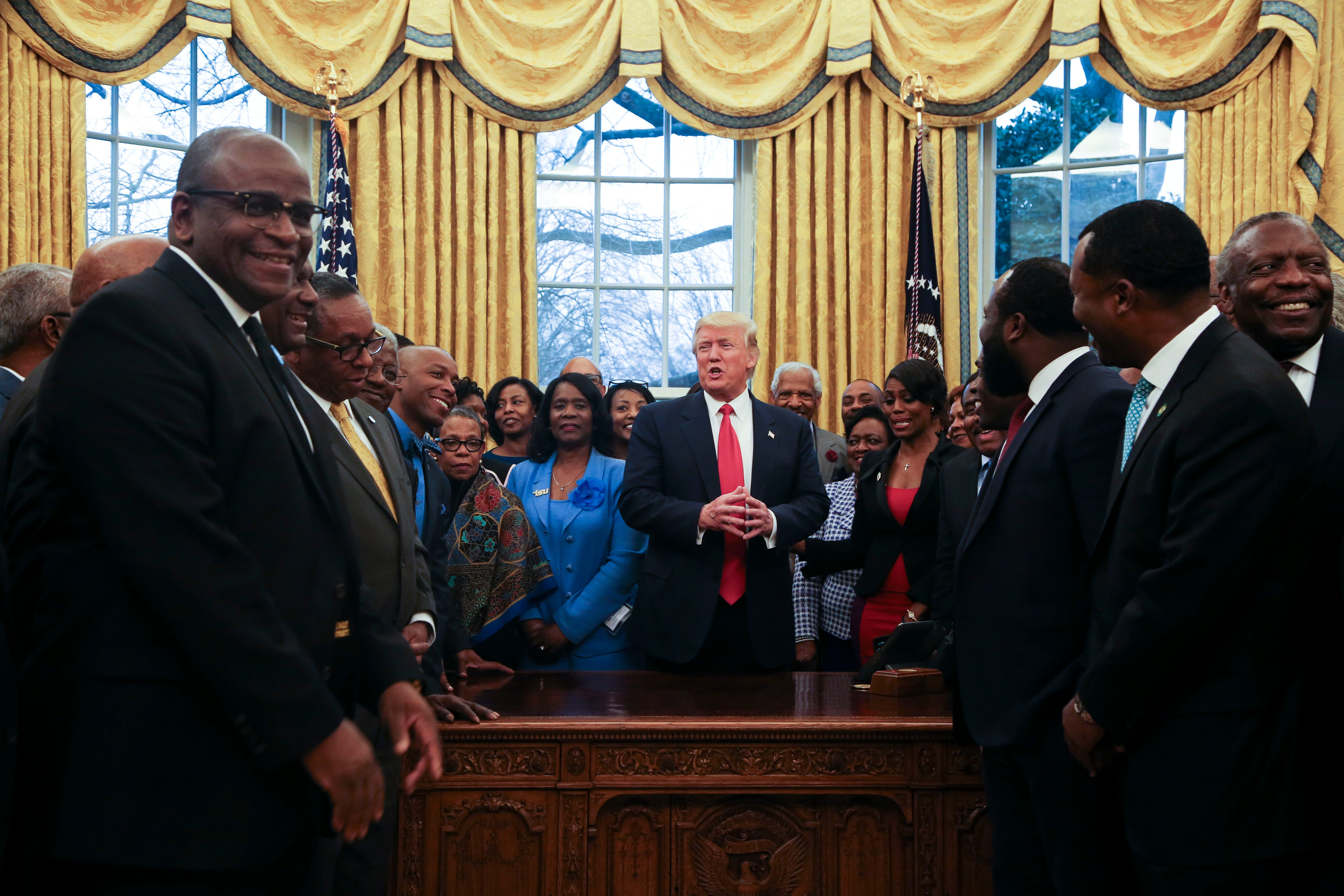President Trump Meets With Dozens Of HBCU Presidents Ahead Of Signing  Executive Order For The Universities